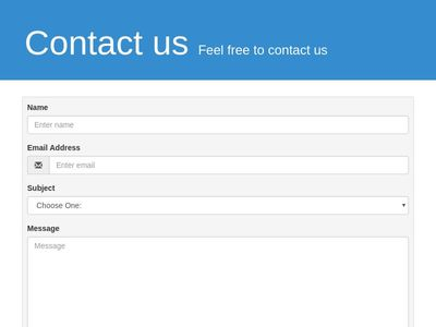 Contact us page