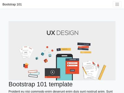 Bootstrap 4.2.1 landing page and Materials Desgning