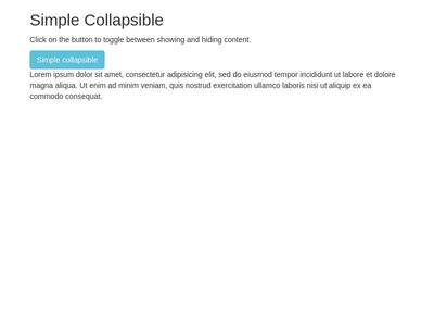 Bootstrap Collapse Examples