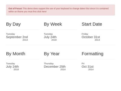Bootstrap Datepicker Examples