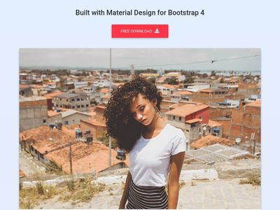 Bootstrap Cards - Material Design & Bootstrap 4