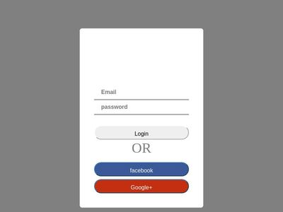 simple login page using html css