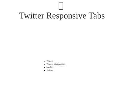 Twitter Responsive Tabview