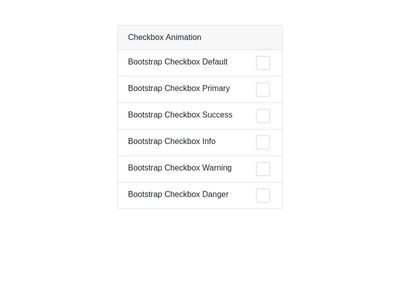 Bootstrap V4 Simple Checkbox with Animation - No Js