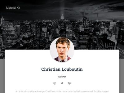 Bootstrap Profile Page