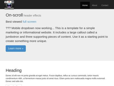 TEST: On-scroll header effects