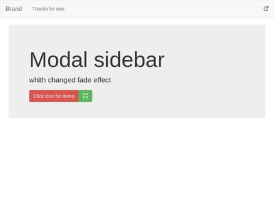 modal sidebar scale effect bs3 & bs4