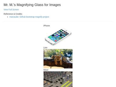 Magnifying Glass for Images