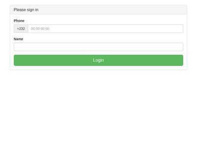 Compact login form BS 3