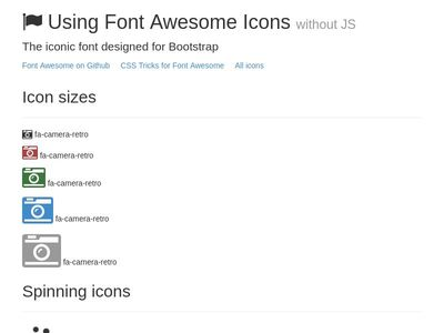 Using Font Awesome Icons without JS