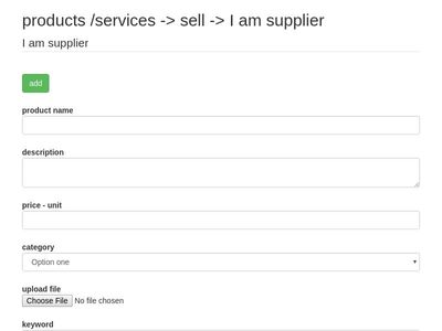 products /services -> sell -> I am supplier