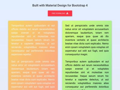 Bootstrap Panels - Material Design & Bootstrap 4