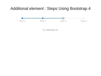 Additional element : Steps Wizard Using Bootstrap 4