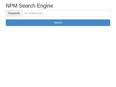 NPM Search Engine