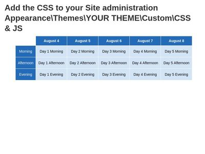 CSS3 Tables - Moodle 3.3.3