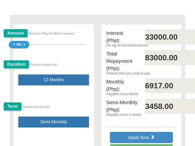 Bootstrap Snippet Bootstrap Business Loan Calculator using HTML CSS