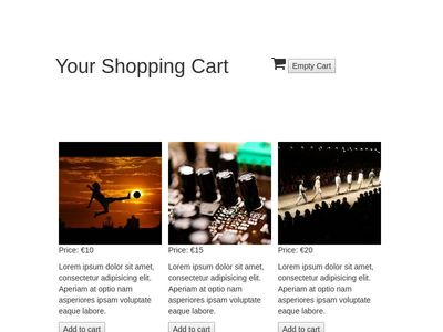 jquery shopping card