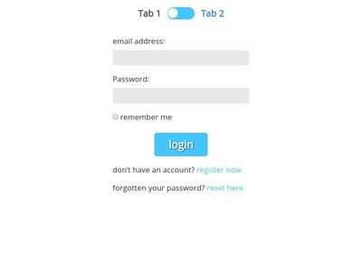 Bootstrap Switch Button Form