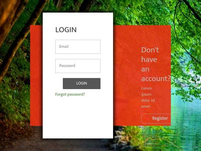animated sinin and signup panel. animated login and registeration page, popup,