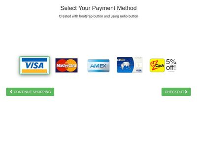Payment method selector