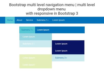 Bootstrap multi level navigation menu | multi level dropdown menu with responsive