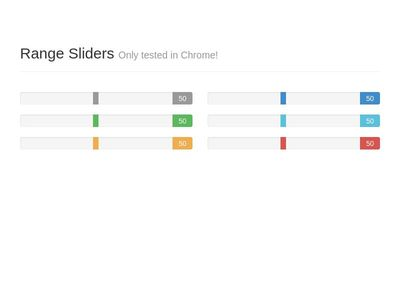 Stylish Sliders/Range Selectors!