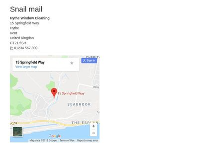 Google Maps contact info