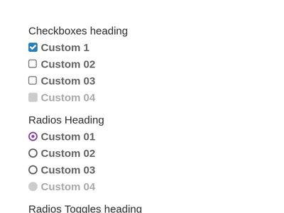 Custom CheckBoxes and Radios CSS