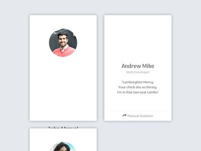 Bootstrap Snippet Rotating Card using HTML CSS Bootstrap