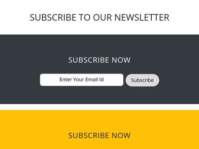 Newsletter Subscription Form In Bootstrap 4 -w3hubs.com