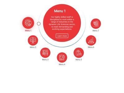 Bootstrap Snippet Circle Menu using HTML