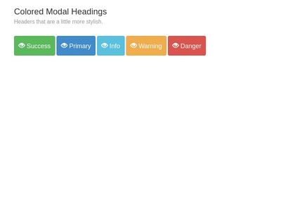 Colored Modal Headings