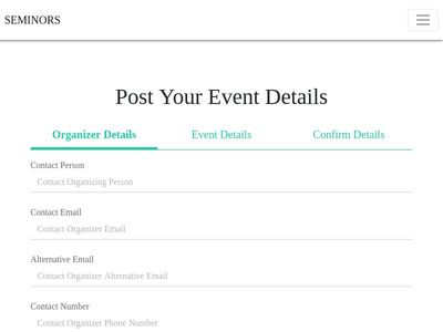 post-your event page