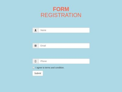 Form Registration