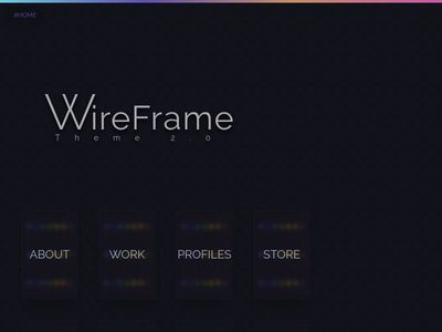 WireFrame Theme 2.0