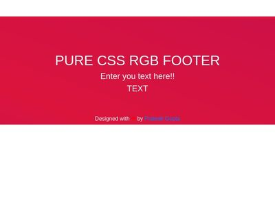 Pure CSS RGB Footer