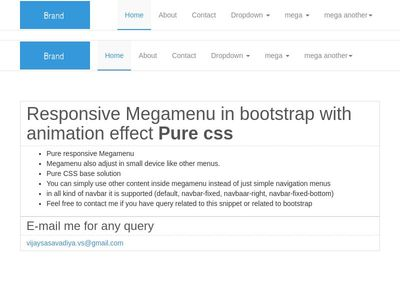 Responsive Megamenu with animation (pure css)