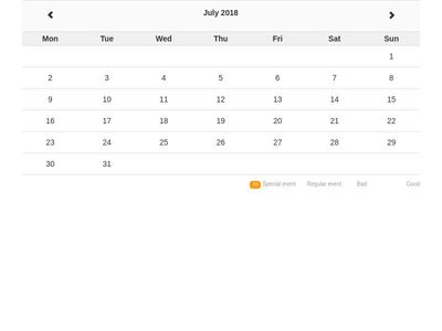 Bootstrap Snippet Calendar using HTML CSS Bootstrap jQuery