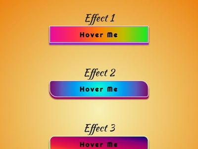 Gradient 3D buttons with Hover Effects