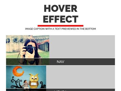 Creative hover effects