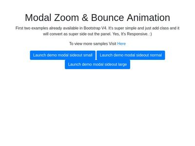 Bootstrap V4 Modal Zoom & Bounce Animation