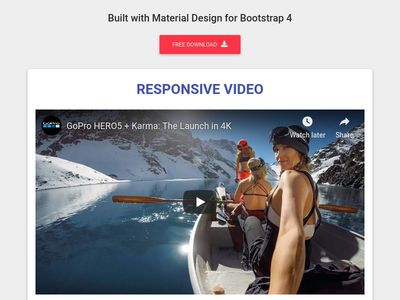 Bootstrap Video - Material Design & Bootstrap 4