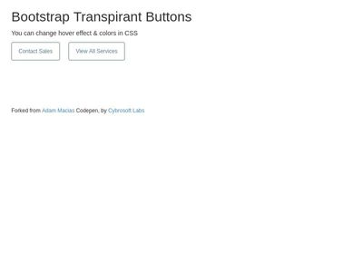 Bootstrap Transpirant Buttons