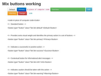 Mix buttons - Moodle 3.3.3