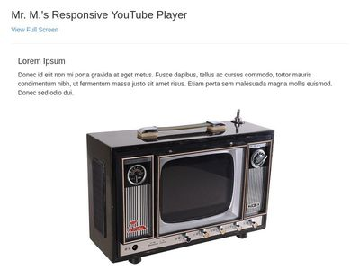 Responsive YouTube Player