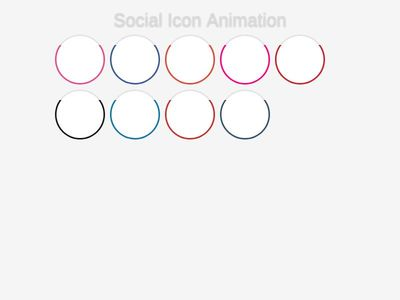 social icon animation