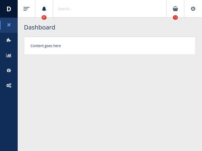 Bootstrap Snippet admin panel using HTML
