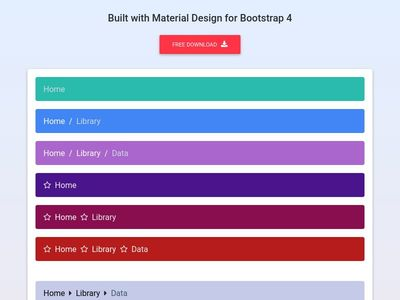 Bootstrap Breadcrumb - Material Design & Bootstrap 4