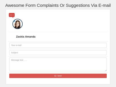 Awesome Form Complaints Or Suggestions Via E-mail