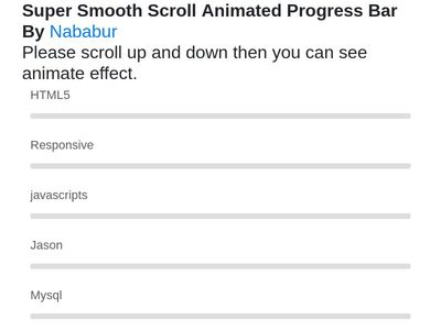 Super Smooth Scroll  Animated Progress Bar